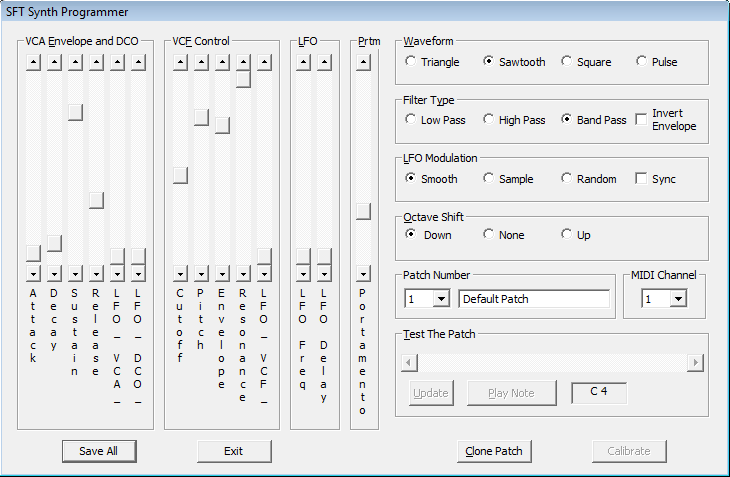 A screenshot of the programmer application